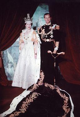 Queen Elizabeth and Prince Phillip, Coronation Portrait