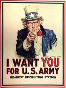 World War I Uncle Sam Recruiting Poster