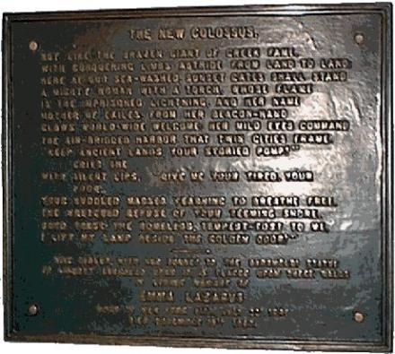New Colossus: Emma Lazarus' poem at base of Statue of Liberty