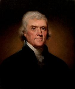 Official Presidential Portrait of Thomas Jefferson, 1800