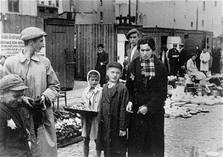 Child vendor in ghetto during the Holocaust