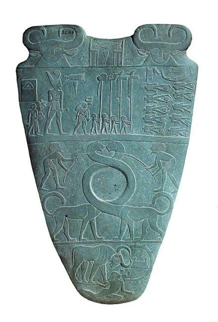 Narmer_Palette_serpopard_side